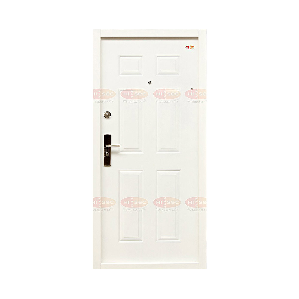Fehér 505 - Hi-Sec fém biztonsági ajtó