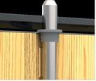 11A főzár által működtetett záródási tüske (1 db) a felső sarok kifeszítés elleni védelmére (Opcionális)